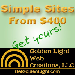 Ad for Simple Site Golden Light Web Creations LLC 727 386 9208